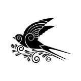 black swallow silhouette - 191713453