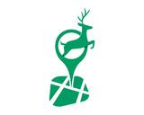 deer marker reindeer deer elk stag image vector icon logo silhouette
