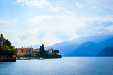View of colorful town and mountian background ,Lake como,Italy,Europe - 191722692