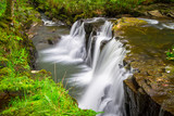 Beautiful cascades of Clare Glens in Ireland - 191725676
