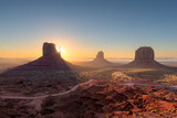 Beautiful Monument valley at sunrise in Arizona