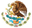 vector isolated on white coat of arm of Mexico