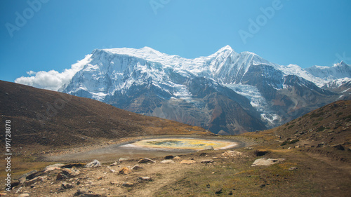 Foto op Canvas Blauw Nepal, Annapurna circuit. Nature & Landscape of an incredible Country