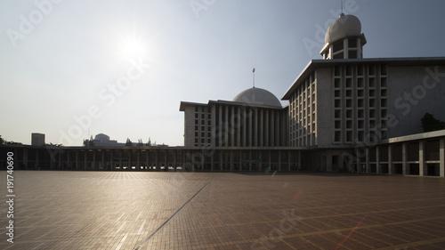 Beautiful Istiqlal mosque under sunlight