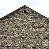 Lake District stone barn wall gable end full frame texture background - 191742880
