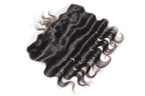 Body wavy black human hair extensions lace frontal - 191746466