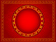illustration of abstract chinese background with circle copy space