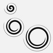 Three circular spirals of different sizes. Vector logo symbol - 191748412
