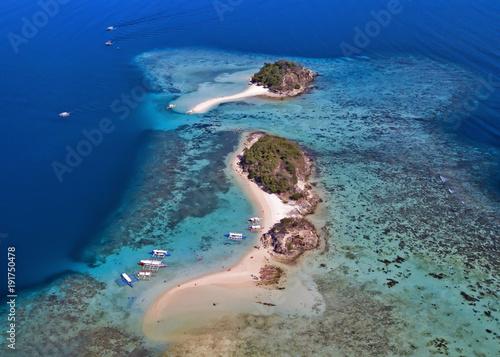 Fotobehang Tropical strand Paradisiac beach in Coron Palawan Philippines
