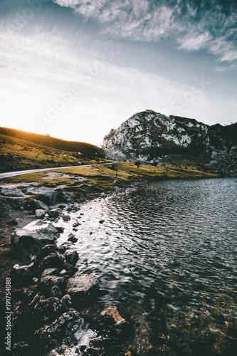 Fotobehang Zomer Picos de europa lagos de covadonga