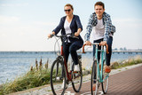 Healthy lifestyle - people riding bicycles - 191756259