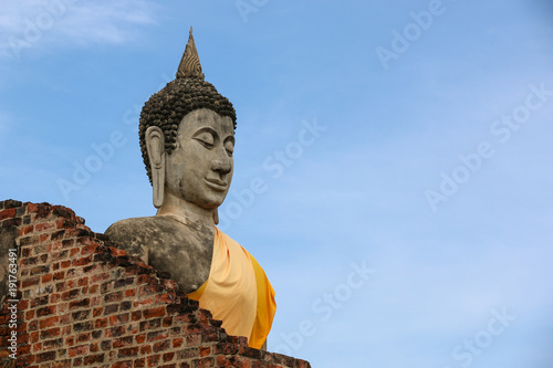Foto op Canvas Boeddha Budha head