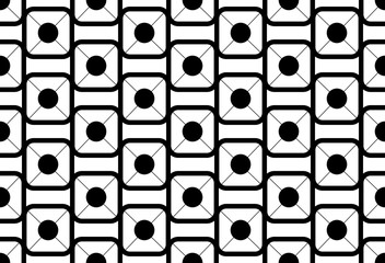 Black on white seamless pattern. Abstract background