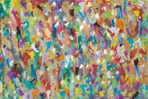 Fototapety, obrazy : Buntes Gemälde von Carola Vahldiek, Gouache, Muster, Hintergrund