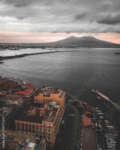 Papiers peints Vieux rose Napoli Landscape
