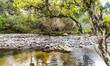 Quadro Rio com pedras.
