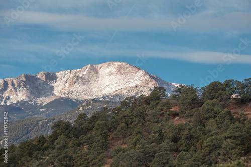Foto op Canvas Blauwe jeans Snow top mountain landscape