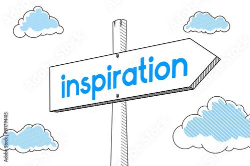Fototapeta Inspiration - signpost