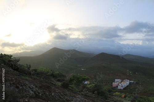 Foto op Plexiglas Blauwe hemel Gran Canaria Landscape