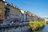 Les quais de l'Isère à Grenoble. - 191798232