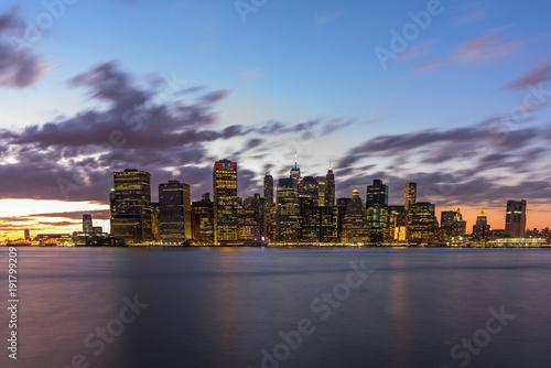 Foto op Plexiglas New York Lower Manhattan Skyline from Brooklyn
