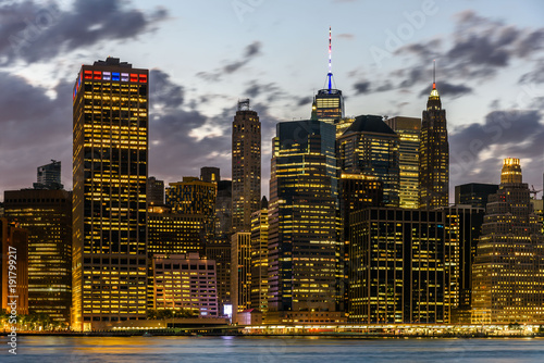 Foto op Aluminium New York Lower Manhattan Skyline from Brooklyn