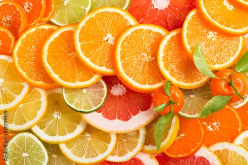 Citrus background.