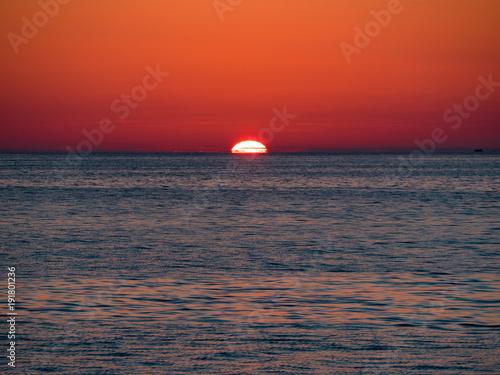 Foto op Canvas Zee zonsondergang Italian sunset