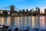 Panorama new york city at night - 191801632