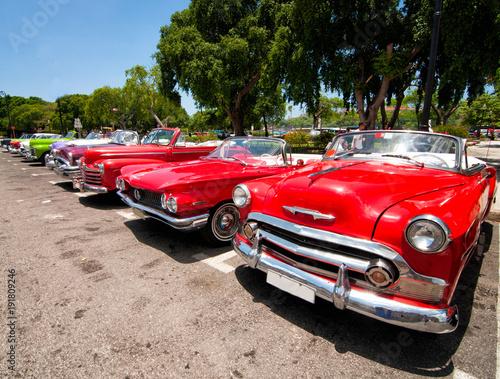 Foto op Canvas Havana Vintage Cars in Havana