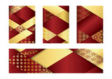holiday greeting cards with Chinese traditional pattern - 191809864