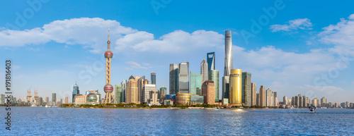 Foto op Canvas Shanghai Urban architectural landscape in the Bund, Shanghai