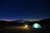 Wild Camp And Etna Volcano Under The Starry Sky At Dawn, Sicily - 191820832