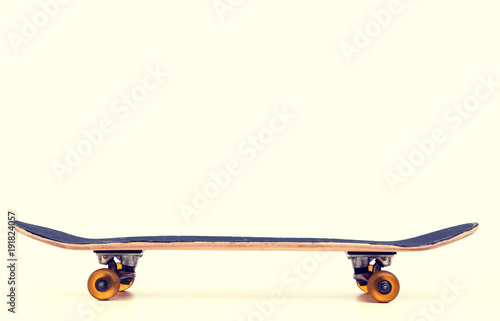 Aluminium Skateboard skateboard in front of bright background