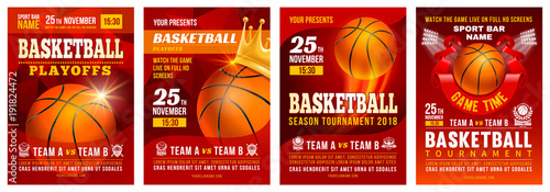 Keuken foto achterwand Bol Basketball Poster Set