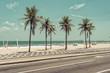 Quadro Sunny day with Palms on Ipanema Beach in Rio de Janeiro, Brazil
