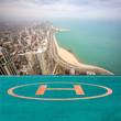 Chicago city and Lake Michigan