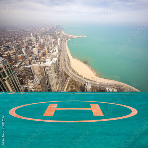 Papiers peints Chicago Chicago city and Lake Michigan