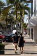 Quadro Paar beim shoppen am Rodeo Drive in Los Angeles