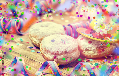 Fasching carnival party donuts
