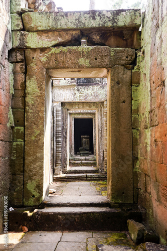 Inside one of the temples of Angkor Wat complex in Siem Reap, Cambodia