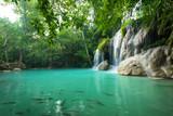 Breathtaking green waterfall