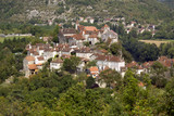 Rural village of Calvignac on a hilltop in the Lot Valley, The Lot, Midi-Pyrenees, France, Europe - 191845263