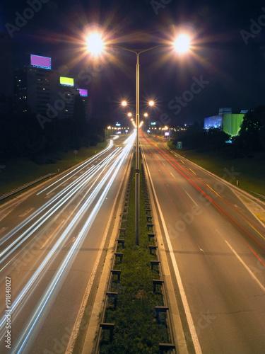 Foto op Plexiglas Nacht snelweg various