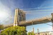 Beautiful view of Brooklyn Bridge