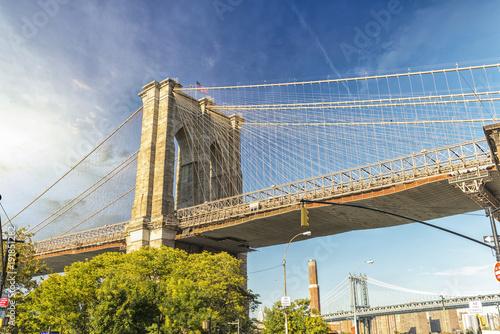 Fotobehang Brooklyn Bridge Beautiful view of Brooklyn Bridge