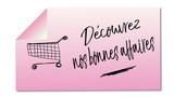 découvrez nos bonnes affaires mémo rose illustré - 191854413