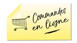 commandes en ligne mémo jaune illustré - 191854448