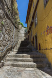 Old Narrow Street with Stairs in Portuguese Town - 191857681