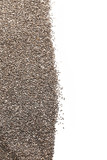 Heap of chia seeds on white background - 191860871